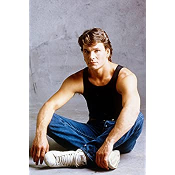 68676eb805397 Amazon.com  Patrick Swayze in black tank top and jeans Dirty Dancing ...