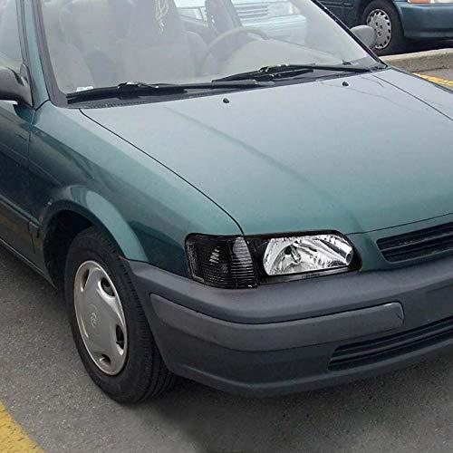 Fit 95-99 Toyota Tercel Black Turn Signal Lights Corner Lamps Left+Right