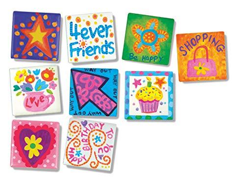 4M 4563 Magnetic Mini Tile Art – DIY Paint Arts & Crafts Magnet Kit for Kids – Fridge, Locker, Party Favors, Craft…
