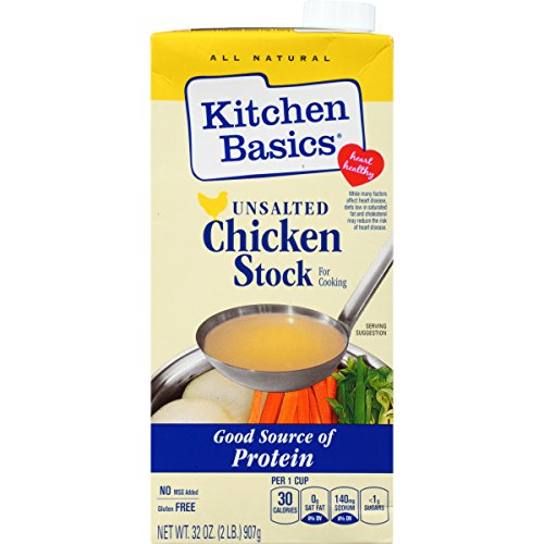 Gourmet Select Organic Bone (Kitchen Basics UnSalted Stock, Chicken, 32 Ounce (Pack of)