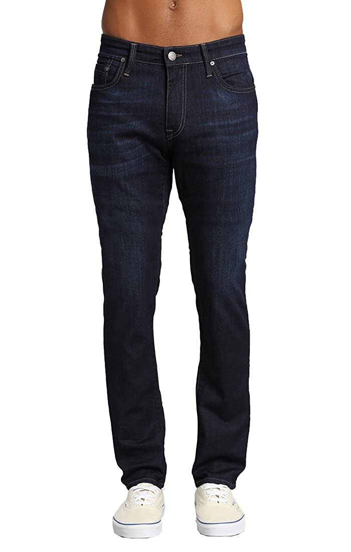 Mavi Men's Jake Regular-Rise Taperojo Slim Fit Jeans, Rinse Brushed Williamsburg, 35W X 32L