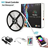 Nexlux LED Strip Lights, Wifi Wireless Smart Phone Controlled Light Strip Kit 16.4ft 150leds 5050 Non-Waterproof LED Lights,Working with Android and IOS System,Alexa, Google Assistant
