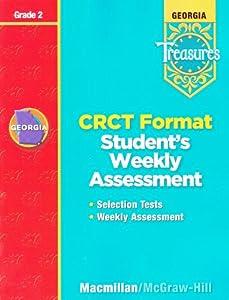 Paperback Georgia Treasures: CRCT Format Student's Weekly Assessment, Grade 2 [2008] Book