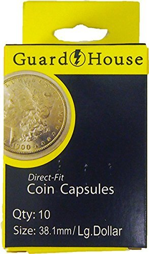 50 Guardhouse 38mm Airtight Coin Capsules for Morgan, Peace, Ike Silver Dollar
