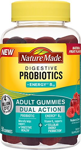 Nature Made Digestive Probiotics + Energy B12 Gummies, 50 Count