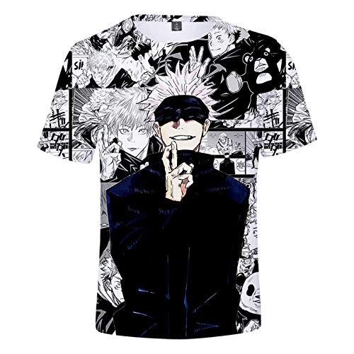 GUGU Lente en zomer anime 3D T-shirt modieus Jujutsu Kaisen T-shirt Unisex korte mouw