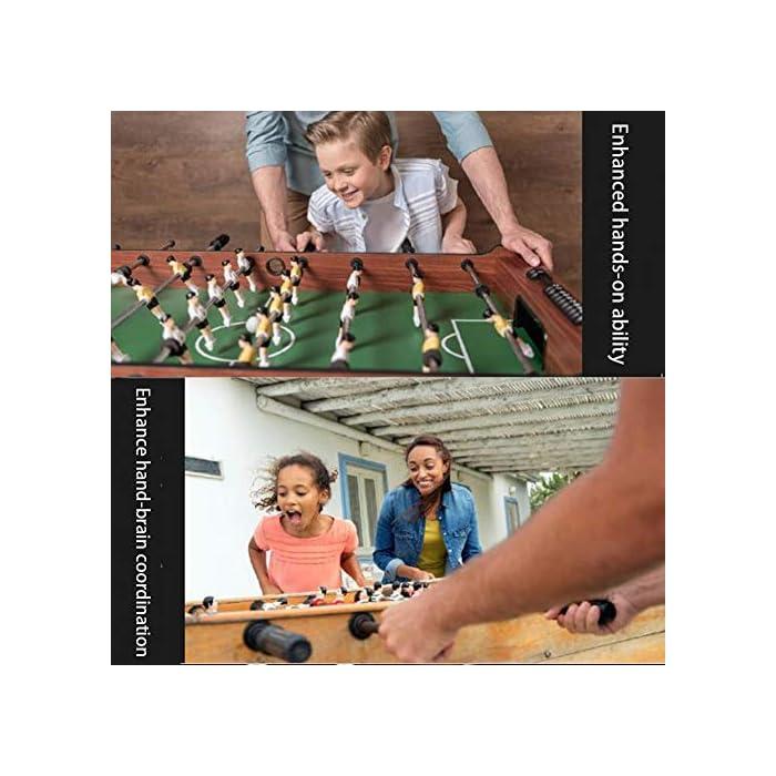 """51XEYsRN%2BeL ✅ BOLETO PEQUEÑO PARA TODAS PARTES: El práctico tablero """"Kicker"""" se adapta a cualquier mesa, pero también se puede usar en todas las superficies planas. ✅ ALTA CALIDAD Y SEGURIDAD: la pequeña mesa de fútbol tiene un cuerpo hecho de una decoración de plástico insensible, campo de juego endurecido, figuras hechas de plástico duro resistente, gomas antideslizantes, amortiguadores de barra, barras cromadas con cerradura de seguridad para niños. ✅ TAMAÑO COMPACTO Y PESO LIGERO: Gracias a sus dimensiones compactas y bajo peso, la Mini Foosball Table es perfecta para divertirse con patadas móviles y flexibles."""