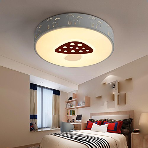 Maniny Children Room Ceiling Lamp Boy LED Creative Round Creative Ceiling Light Bedroom Chandelier Girl Mushroom Room Cartoon Ceiling by Maniny
