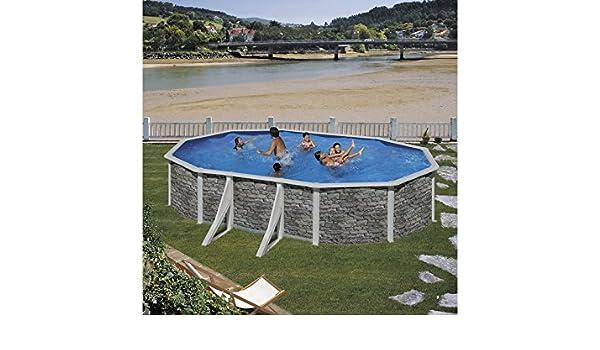 Piscina Gre Piedra Ovalada Cerdeña 500x350x120 cm.: Amazon.es ...