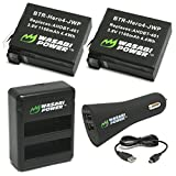 Wasabi Power Battery (2-Pack) for GoPro HERO4 and Dual Charger with Car Adapter