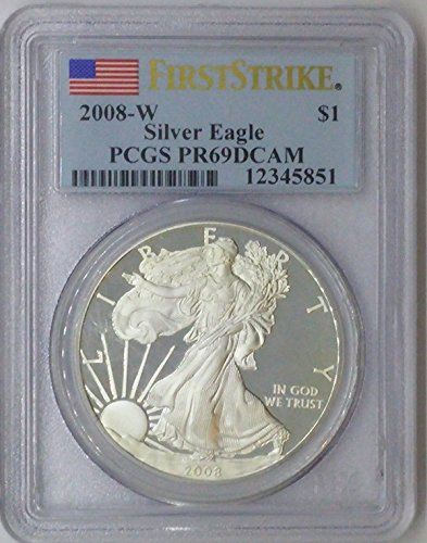 2008 W American Eagle $1 PR69 PCGS Silver Dollar Old US Coin 90% Silver