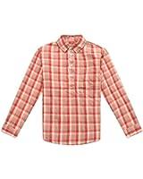 Richie House Little Boys' Plaid Blouse with Lapel Collar Size 2-8 RH0856