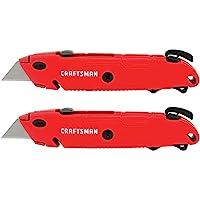 CRAFTSMAN Faca utilitária, troca rápida, lâmina retrátil, pacote com 2 (CMHT10378)