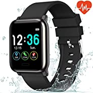 L8star Fitness Tracker Heart Rate Monitor-1.3'' Large Color Screen IP67 Waterproof Activity Tracker wi