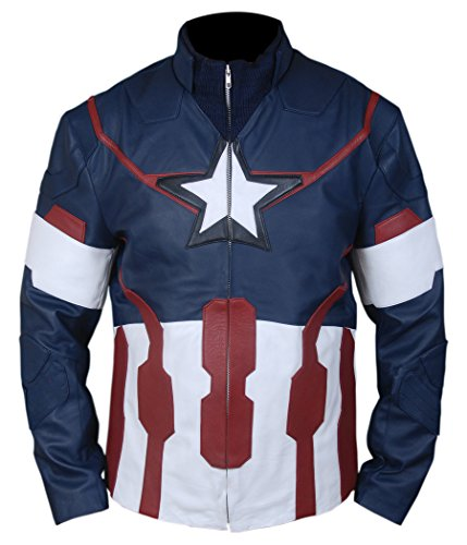 F&H Boy's Avengers Age of Ultron Captain America Steve Rogers Jacket M Blue