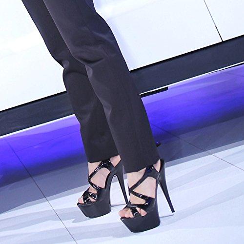 Damas los el de la Verano Sandalias tacón Dedos de Partido los Zapatos b Temperamento en Sexy YMFIE Zapatos de de y Personalidad Bola los de pies Altos Tacones de Cristal y wa4q6UxI