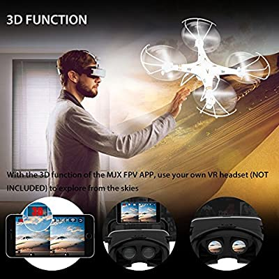 DBPOWER X705C FPV 3D Function 2.4GHz 6 Axis Quadcopter RC Drones with 0.3MP Camera for IOS & Android