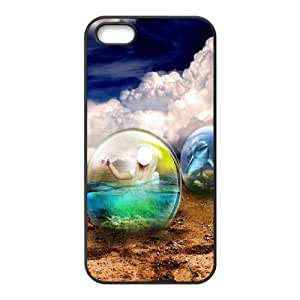 Iphone 5,5S Transparent crystal ball Phone Back Case Custom Art Print Design Hard Shell Protection TY078649