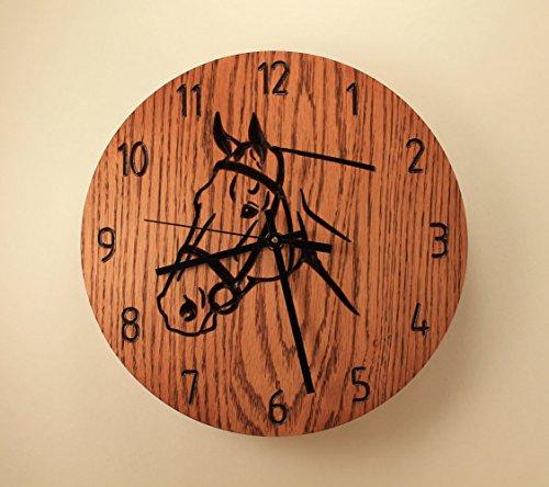 Horse Clock, Animal Clock, Wood Wall Clock, Western Farm Decor, Home Clock, Stallion Clock Horse Riding Pet, Clock Gift, Wedding Clock, Wooden Clock, Art Clock, Wood Art. ()