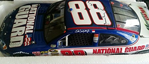 (GM Dealers Motorsports Authentics (Action Racing Collectibles) Dale Earnhardt Jr #88 2008 National Guard Daytona Bud Shootout Win Raced Version 1:24 1/24 COT Opening Hood, Trunk, Roof Flaps)