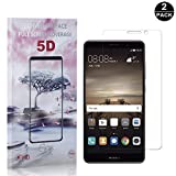 Huawei Mate 9 Tempered Glass Screen Protector, UNEXTATI® Premium HD Clear Screen Protector, Anti Scratch Tempered Glass Film for Huawei Mate 9 (2 PACK)