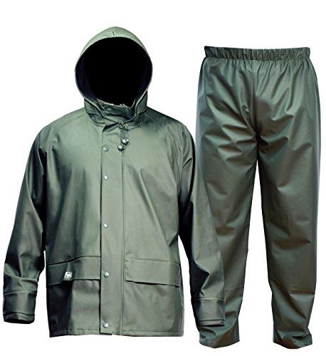 Navis Marine FWG Men's Rain Suit Commercial Fishing Heavy Duty Workwear Waterproof Jacket with Pants 3 Pieces