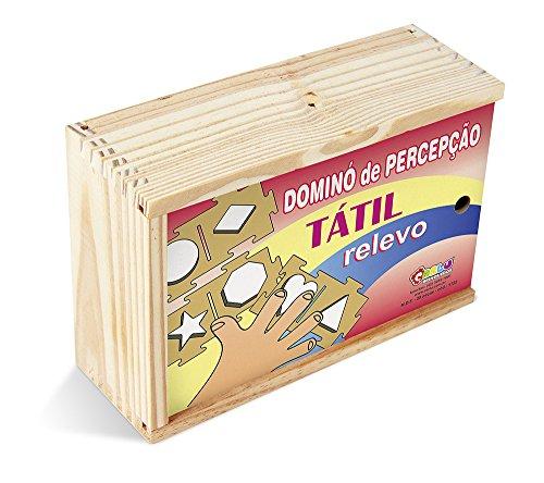 Dominó Percepção Tátil Relevo Carlu Brinquedos