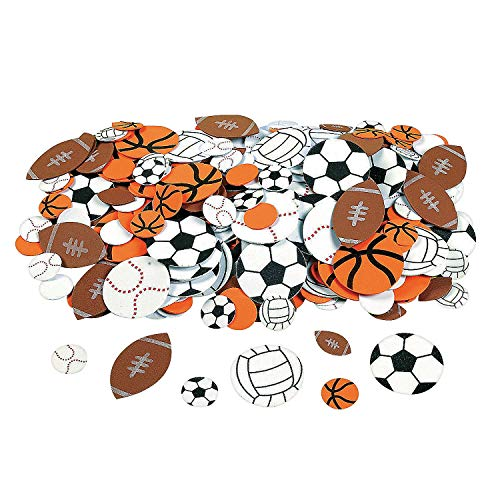 Fun Express Fabulous Foam Self-Adhesive Sport Ball Shapes - 500 Pieces]()