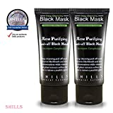 SHILLS Black Mask, Peel Off Mask,Blackhead Remover Mask,Charcoal Mask, Blackhead Peel Off Mask (DUO)