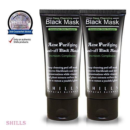 SHILLS Black Mask, Peel Off Mask,Blackhead Remover Mask,Charcoal Mask, Blackhead Peel Off Mask (DUO) - Genuine Duo