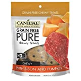 Canidae Grain Free Pure Chewy Dog Treats With Bison & Pumpkin, 6 Oz.