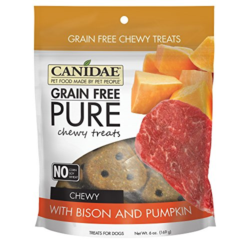 Canidae Grain Free Pure Chewy Dog Treats With Bison & Pumpkin, 6 -
