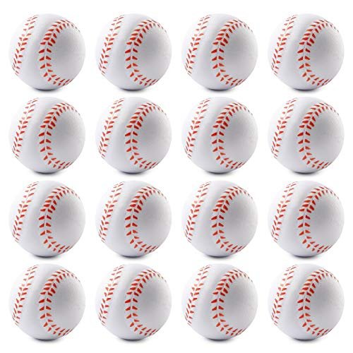 WATINC 16 Pcs 2.5Inch Baseball Squishies Soft Foam Sports Balls for Kids Sports Themed Party Favor Toys, Squeeze Balls for Stress Relief, Ball Games and Prizes, Perfect for Small Hands Stress Balls]()