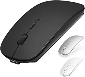 Bluetooth Mouse, ANEWKODI Wireless Mouse for Laptop/iPad Pro Air(iPad OS 13 and Above)/MacBook Pro Air, Rechargeable Mini Silent Mouse Support PC, 3 Adjustable DPI Levels, Bluetooth 4.0 Black