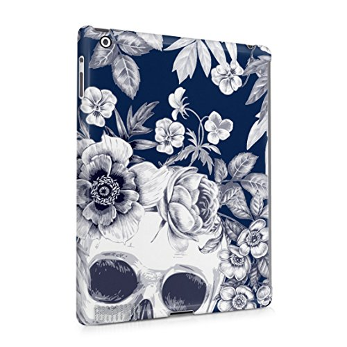 Tropical Floral Dead Pirate Skull Indie Hype Hipster Tumblr Plastic Tablet Snap On Back Case Cover Shell For iPad 2 & iPad 3 & iPad 4