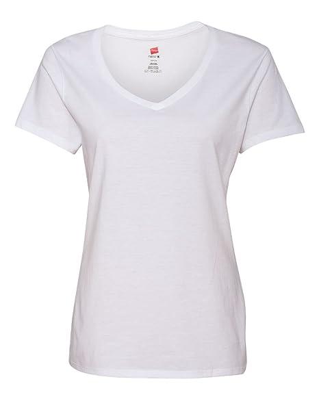 86b23580ac4d60 Hanes Women's 3-Pack ComfortSoft V-Neck Tees at Amazon Women's ...