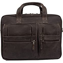 Canyon Outback Casa Grande Canyon 15.6-Inch Leather Computer Bag, Distressed Brown, One Size