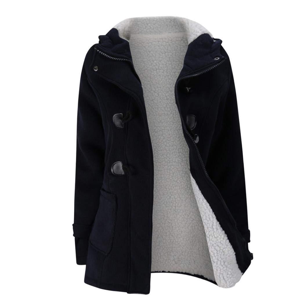 Besooly Women Coat Keep Warm Windbreaker Outwear Warm Wool Slim Long Coat Jacket Trench