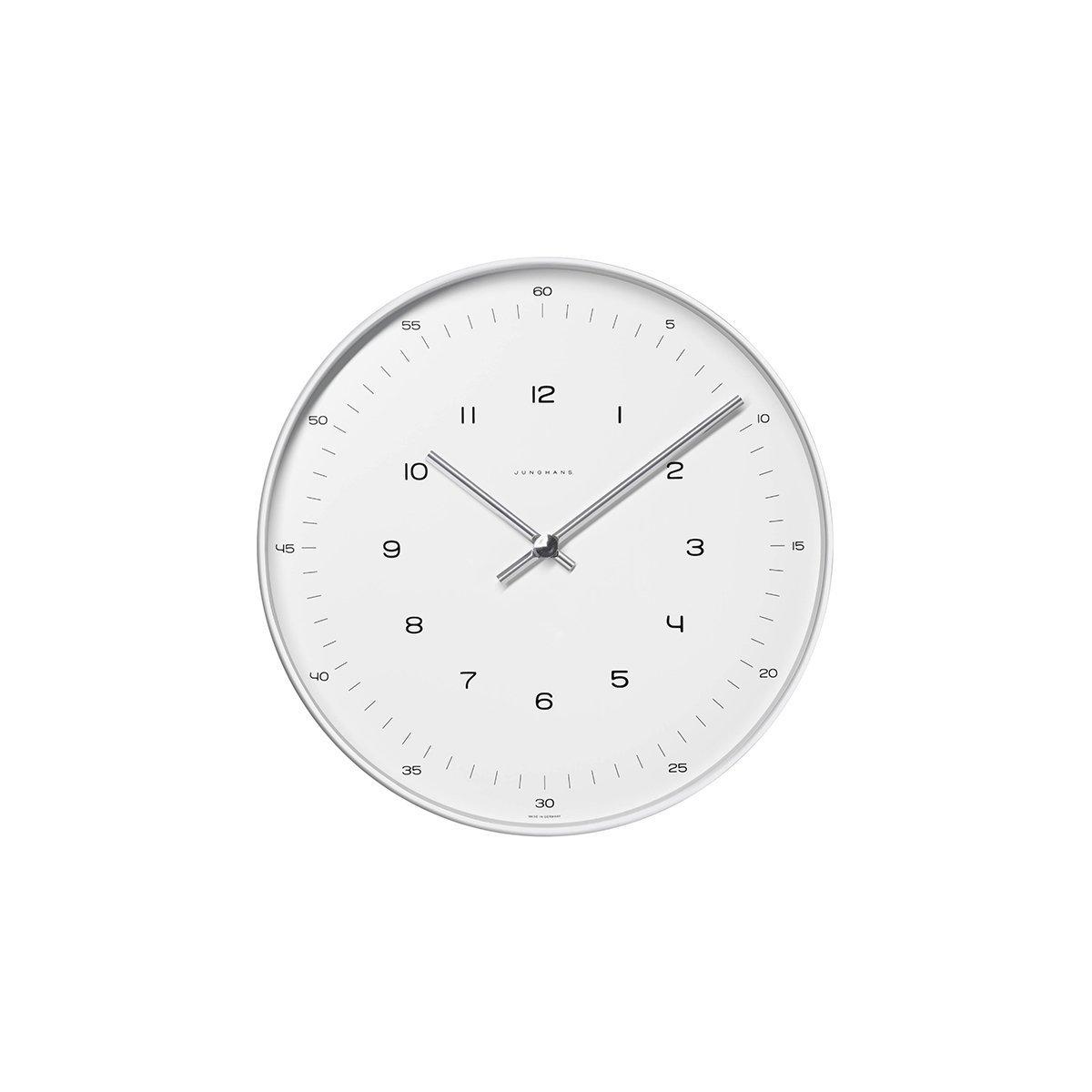 22 cm max bill Design-Wanduhr im Bauhaus-Stil  Quarz-Uhrwerk  Made in Germany   Ø 22 cm  Zahlen-Zifferblatt