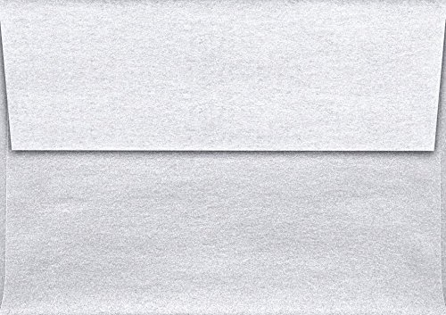 (A1 Invitation Envelopes (3 5/8 x 5 1/8) - Silver Metallic (50 Qty)   Perfect for RSVP Cards, Invitations, Announcements and Notes  )