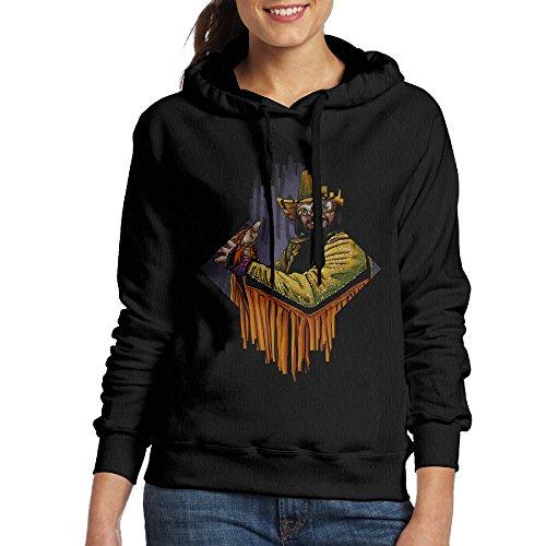 [Macho Man Women's Pullover Hood XL Black] (Nerf Boy Costume)