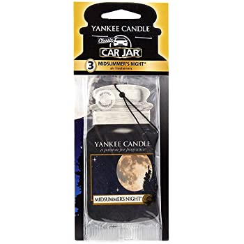Yankee Candle Paper Car Jar Hanging Air Freshener MidSummer's Night Scent - 3 Pack