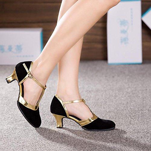 Evening Suede Lace Size Cuban Modern 39 amp; Shoes Ballroom Stitching Shoes Shoes Heel D Dance Women's Color E Heel Party XUE q8ZXwBz