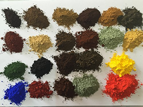 Pigmentsdye 21 samples 30grams each for all painting applicationsincluding concretegroutrenderwood paintmetal paintpointinghouse paintceramiccementbricktiles