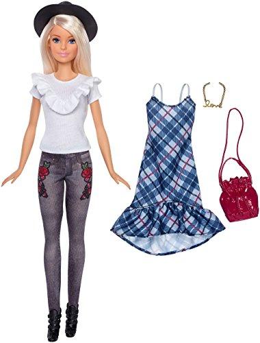 Barbie Fashionistas #83 Denim Floral Doll, Original Barbie Doll Hat