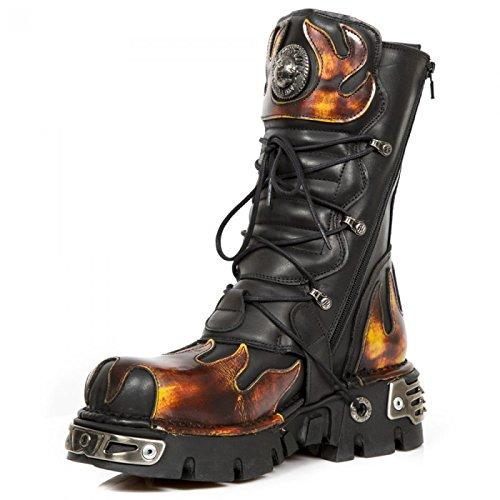 New Rock Støvler M.591-s1 Gotisk Hardrock Punk Unisex Stiefel Sort 3hiw0