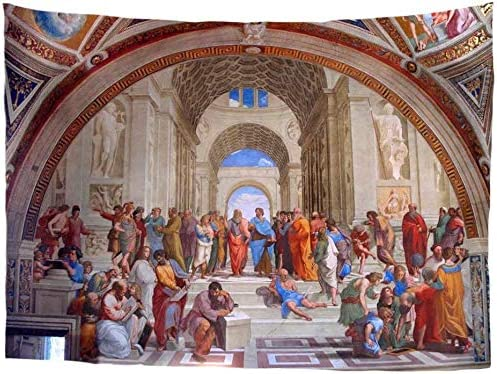 Classic Art Tapestry Wall Hanging Raphael The School of Athens Renaissance Art Dorm Decorate Tapestry