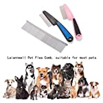 Flea Comb,Pet Comb Laiannwell Professional Grooming Comb for Dog/Cat/Small Pets (3 Packs) 10