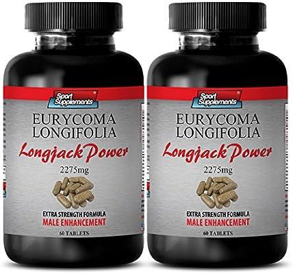 Malaysian Ginseng - Longjack Power Eurycoma Longifolia 2275mg - Increase Endurance (2 Bottles - 120 tablets)