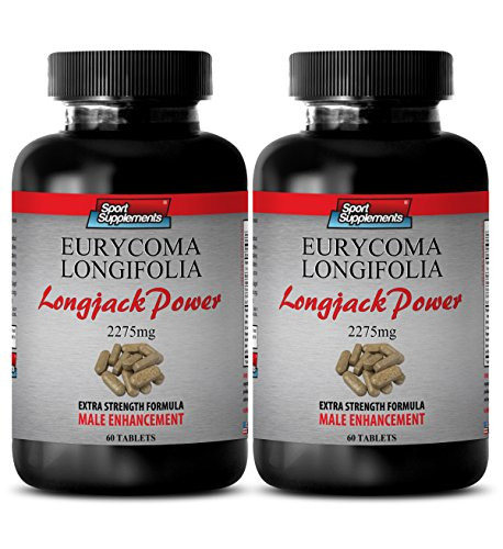 Malaysian Ginseng - Longjack Power Eurycoma Longifolia 2275mg - Increase Endurance (2 Bottles - 120 tablets)